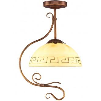 LAMPEX 008/1 B+M | Greka Lampex visiace svietidlo 1x E27 antické hnedé, béž