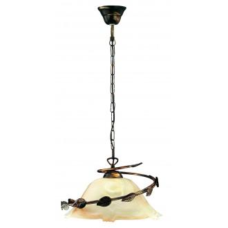 LAMPEX 010/1 C+M | Lampex-Pendant Lampex visiace svietidlo 1x E27 patina, béž
