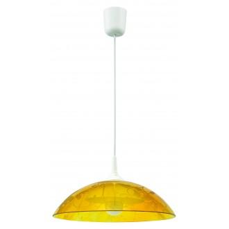 LAMPEX 012/A | Lampex-Pendant Lampex visiace svietidlo 1x E27 biela, žltá