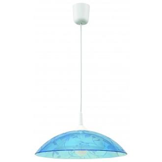 LAMPEX 012/B | Lampex-Pendant Lampex visiace svietidlo 1x E27 biela, modrá