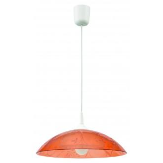 LAMPEX 012/C | Lampex-Pendant Lampex visiace svietidlo 1x E27 biela, pomaranč