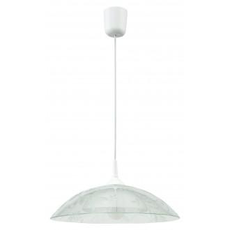 LAMPEX 012/D | Lampex-Pendant Lampex visiace svietidlo 1x E27 biela, priesvitné