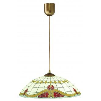 LAMPEX 013/C | Lampex-Pendant Lampex visiace svietidlo 1x E27 patina, krémové, červená