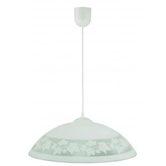 LAMPEX 013/D | Lampex-Pendant Lampex visiace svietidlo 1x E27 biela, sivé