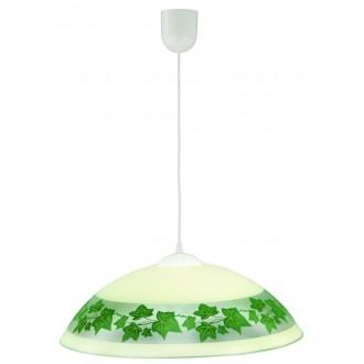 LAMPEX 013/E | Lampex-Pendant Lampex visiace svietidlo 1x E27 biela, krémové, zelená