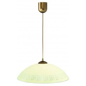 LAMPEX 013/F | Lampex-Pendant Lampex visiace svietidlo 1x E27 patina, krémové