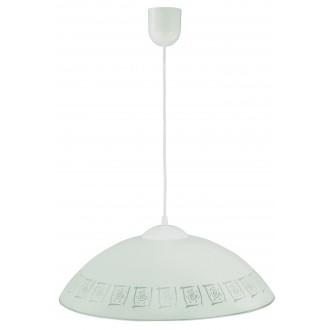 LAMPEX 013/G | Lampex-Pendant Lampex visiace svietidlo 1x E27 biela, sivé