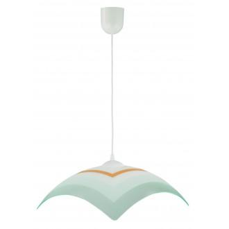 LAMPEX 013/J | Lampex-Pendant Lampex visiace svietidlo 1x E27 biela, sivé, pomaranč