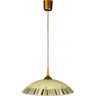 LAMPEX 013/K | Lampex-Pendant Lampex visiace svietidlo 1x E27 patina, krémové, viacferebné
