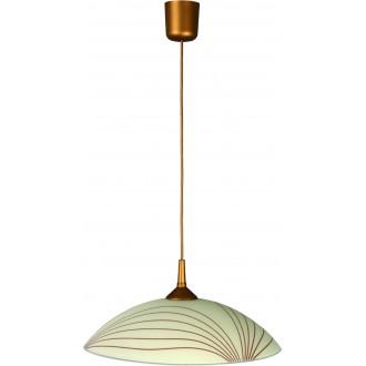 LAMPEX 013/L | Lampex-Pendant Lampex visiace svietidlo 1x E27 patina, krémové