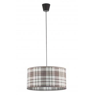 LAMPEX 019/C | Cyntia-LA Lampex visiace svietidlo 1x E27 čierna, biela, hnedá