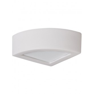 LAMPEX 021/K20 | Atena Lampex stenové svietidlo 1x E27 biela