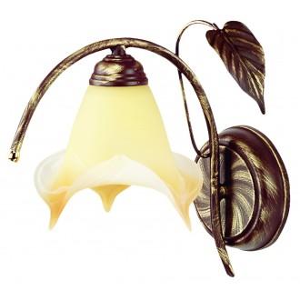LAMPEX 025/K B+Z | Roslina Lampex rameno stenové svietidlo 1x E27 antické hnedé, jantárové