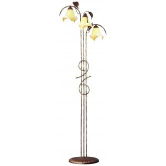 LAMPEX 025/ST B+Z | Roslina Lampex stojaté svietidlo 166cm 3x E27 antické hnedé, jantárové