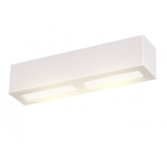LAMPEX 026/40B | Adera Lampex stenové svietidlo 1x E27 biela