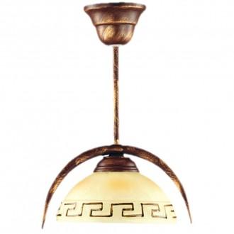 LAMPEX 030/1 B+M | Greka Lampex visiace svietidlo 1x E27 antické hnedé, béž
