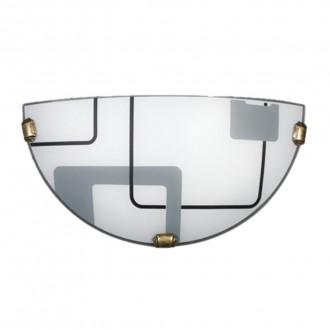 LAMPEX 034/K1 ECO | Quadro-LA Lampex stenové svietidlo 1x E27 patina, biela, sivé