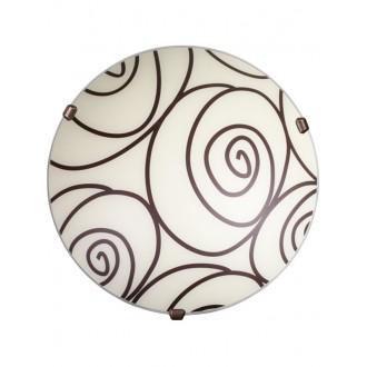 LAMPEX 036/P1 ECO | Helix Lampex stropné svietidlo 1x E27 patina, ecru
