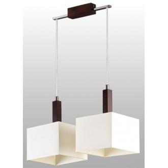LAMPEX 042/2 WEN | Karmen Lampex visiace svietidlo 2x E14 wenge, biela