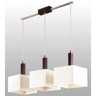 LAMPEX 042/3 WEN | Karmen Lampex visiace svietidlo 3x E14 wenge, biela