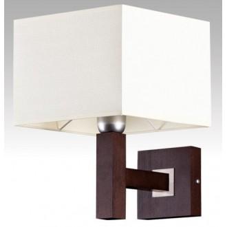 LAMPEX 042/K WEN | Karmen Lampex rameno stenové svietidlo 1x E14 wenge, biela