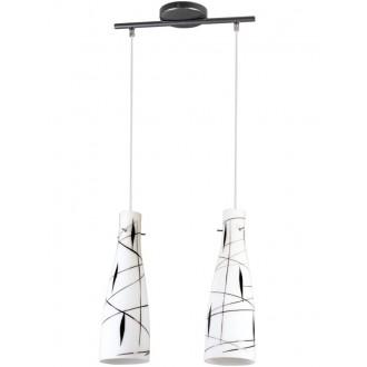 LAMPEX 043/2 DEK | Tubo-LA Lampex visiace svietidlo 2x E27 biela, čierna