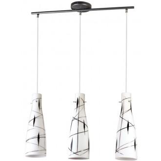 LAMPEX 043/3 DEK | Tubo-LA Lampex visiace svietidlo 3x E27 biela, čierna