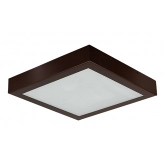 LAMPEX 044/2W | Ventana Lampex stropné svietidlo 2x E27 wenge, biela