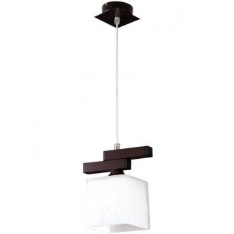 LAMPEX 048/1 WEN | Cubo-LA Lampex visiace svietidlo 1x E27 wenge, chróm, biela