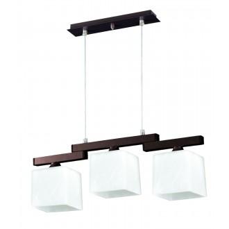 LAMPEX 048/3 WEN | Cubo-LA Lampex visiace svietidlo 3x E27 wenge, chróm, biela