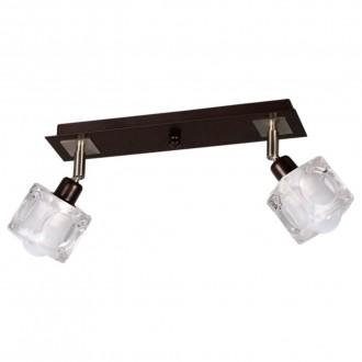 LAMPEX 049/2 WEN | FoRma-LA Lampex stropné svietidlo 2x E14 wenge, chróm, priesvitné