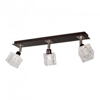 LAMPEX 049/3 WEN | FoRma-LA Lampex stropné svietidlo 3x E14 wenge, chróm, priesvitné