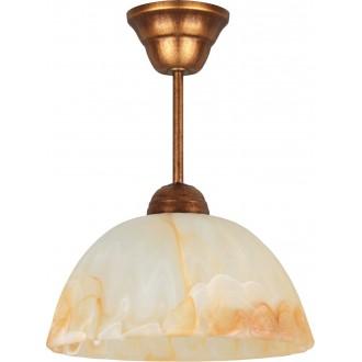 LAMPEX 066/Z B+M | Lampex-Pendant Lampex visiace svietidlo 1x E27 starožitná červená meď, jantárové