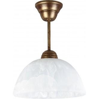 LAMPEX 066/Z B+Z | Lampex-Pendant Lampex visiace svietidlo 1x E27 starožitná zlata, alabaster