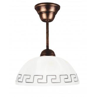 LAMPEX 066/Z C+M | Lampex-Pendant Lampex visiace svietidlo 1x E27 starožitná červená meď, béž