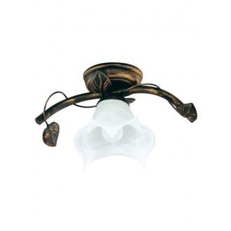 LAMPEX 090/1 C+M | Bluszcz Lampex stropné svietidlo 1x E27 antické hnedé, alabaster