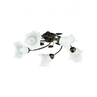 LAMPEX 090/5 C+M | Bluszcz Lampex stropné svietidlo 5x E27 antické hnedé, alabaster