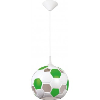 LAMPEX 102/PZI | Pilka Lampex visiace svietidlo 1x E27 biela, zelená
