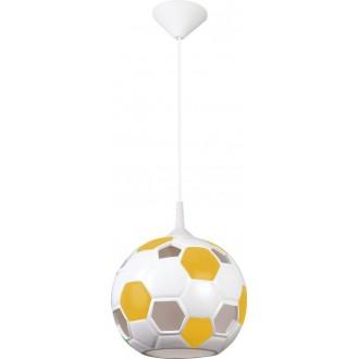 LAMPEX 102/PZO | Pilka Lampex visiace svietidlo 1x E27 biela, žltá