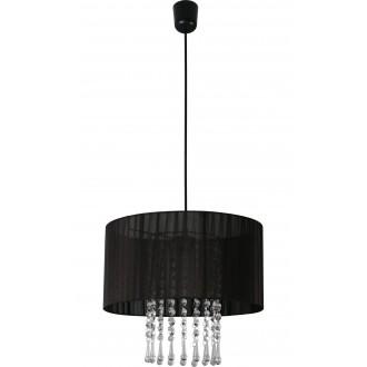 LAMPEX 153/1 CZA | Wenecja-LA Lampex visiace svietidlo 1x E27 čierna, priesvitné