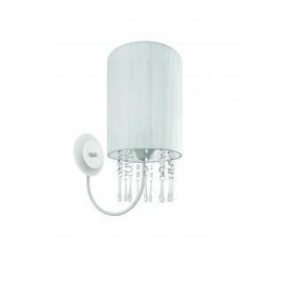 LAMPEX 153/K BIA | Wenecja-LA Lampex rameno stenové svietidlo 1x E27 biela, priesvitné