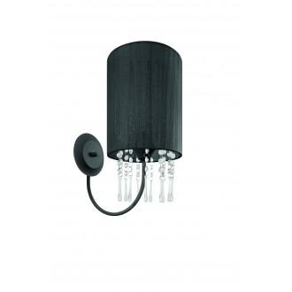 LAMPEX 153/K CZA | Wenecja-LA Lampex rameno stenové svietidlo 1x E27 čierna, priesvitné