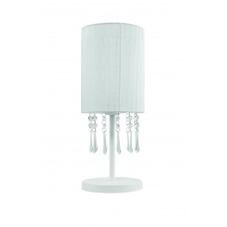 LAMPEX 153/LM BIA | Wenecja-LA Lampex stolové svietidlo 45cm 1x E27 biela, priesvitné