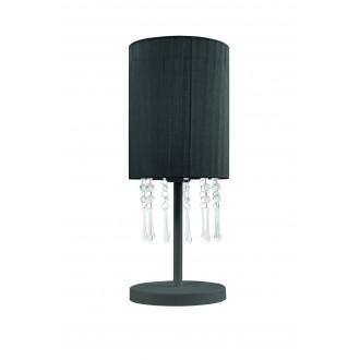LAMPEX 153/LM CZA | Wenecja-LA Lampex stolové svietidlo 45cm 1x E27 čierna, priesvitné