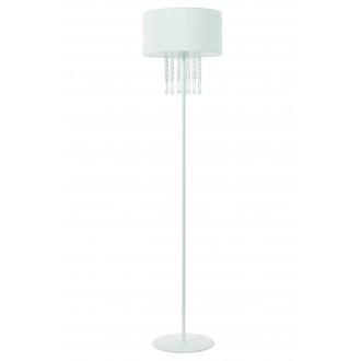 LAMPEX 153/ST BIA | Wenecja-LA Lampex stojaté svietidlo 150cm 1x E27 biela, priesvitné