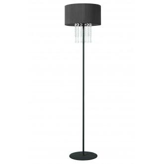 LAMPEX 153/ST CZA | Wenecja-LA Lampex stojaté svietidlo 150cm 1x E27 čierna, priesvitné