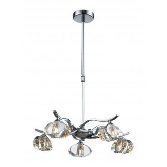 LAMPEX 168/5 | Dallas-LA Lampex luster svietidlo 5x G9 chróm, priesvitné