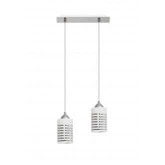 LAMPEX 183/2 | Nila Lampex visiace svietidlo 2x E27 chróm, biela