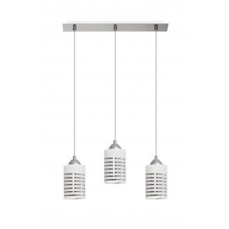 LAMPEX 183/3 | Nila Lampex visiace svietidlo 3x E27 chróm, biela