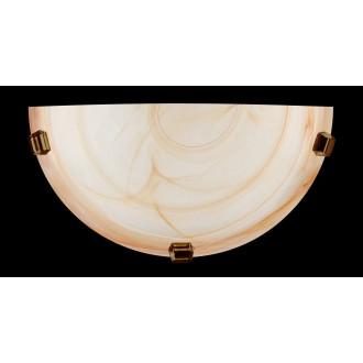 LAMPEX 210/K1 ST | Duna-LA Lampex stenové svietidlo 1x E27 starožitná zlata, jantárové